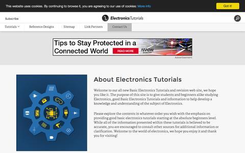 Screenshot of Contact Page electronics-tutorials.ws - Basic Electronics Tutorials Contact Us Page - captured Dec. 4, 2016