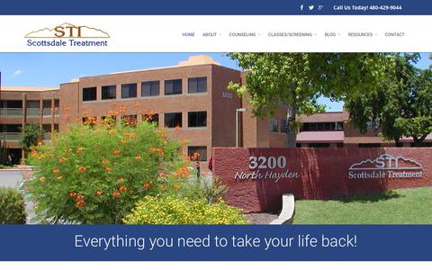 Screenshot of Home Page scottsdaletreatment.com - Scottsdale Treatment | Non-judgmental Help for Alcoholism & Drug Addiction | Non-judgmental Help for Alcoholism & Drug Addiction | Non-judgmental Help for Alcoholism & Drug Addiction - captured Feb. 4, 2016