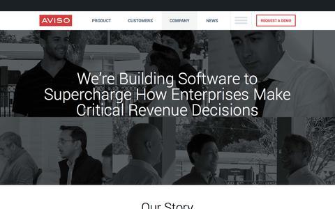 Screenshot of Team Page aviso.com - Aviso - Total Revenue Intelligence - Company - captured Nov. 2, 2014
