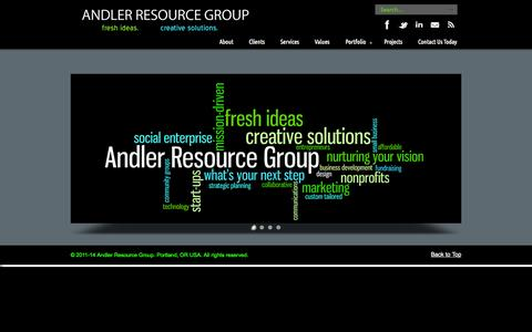 Screenshot of Home Page andler.org - Andler Resource Group - captured Oct. 4, 2014