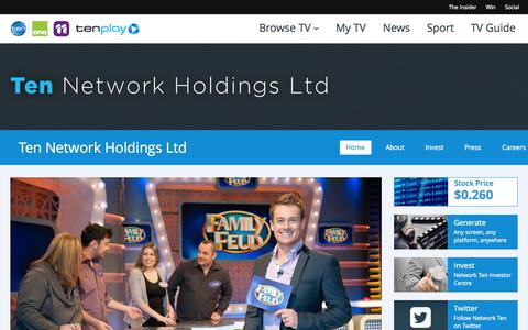 Screenshot of Jobs Page tenplay.com.au - Careers - Network Ten - captured Sept. 18, 2014