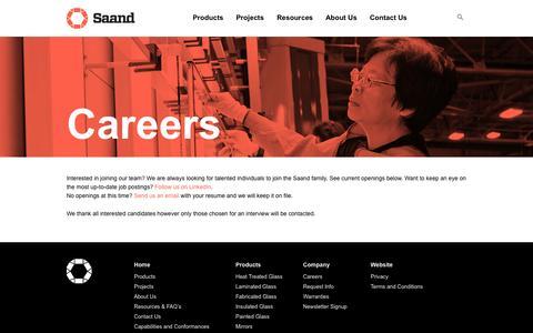 Screenshot of Jobs Page saand.ca - Careers | SAAND - captured Oct. 3, 2014