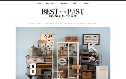 Screenshot of Home Page bestofthepast.nl - Best of the Past - Industrial vintage - captured Oct. 5, 2014
