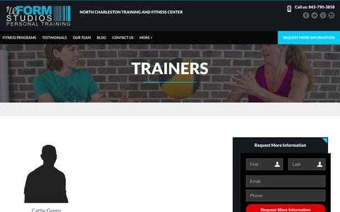 Screenshot of Team Page reformstudiossc.com - Personal Training Trainers | reFORM Studios - captured Oct. 18, 2018