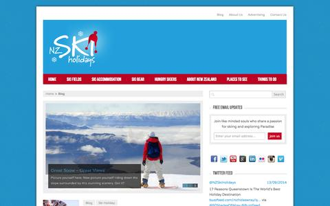Screenshot of Blog nzskiholidays.com.au - Blog | NZ Ski Holidays - captured Oct. 7, 2014