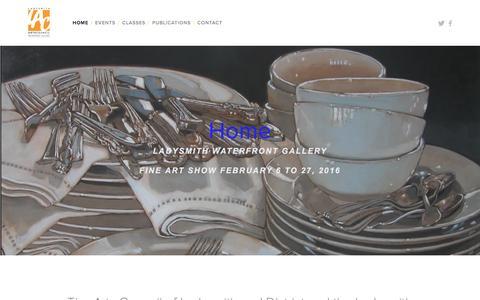 Screenshot of Home Page ladysmithwaterfrontgallery.com - Ladysmith Waterfront GalleryHome - captured Jan. 24, 2016