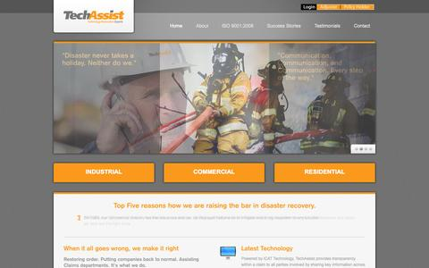 Screenshot of Home Page techassist.ca - TechAssist | Technology Restoration Experts - captured Oct. 9, 2014
