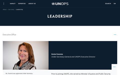 Screenshot of Team Page unops.org - Leadership | UNOPS - captured Oct. 2, 2018