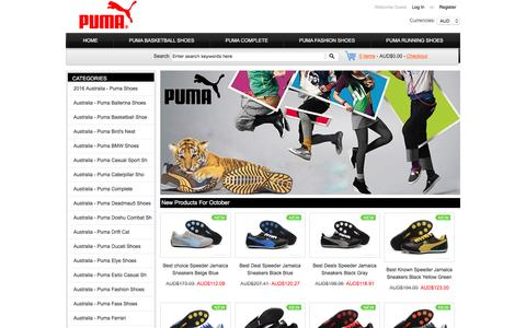 Screenshot of Home Page pttrain.com.au - 2016 Puma Shoes Australia Online Sale Store - captured Oct. 14, 2016