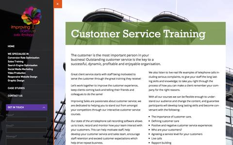 Screenshot of Support Page improving-sales.co.uk - Customer Service Training Manchester | Customer Service Training Company | Courses - captured Oct. 6, 2014
