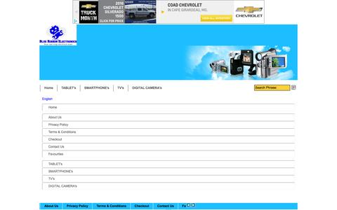 Screenshot of Site Map Page Menu Page blueribbonelectronics.co.uk - Map - captured March 4, 2016