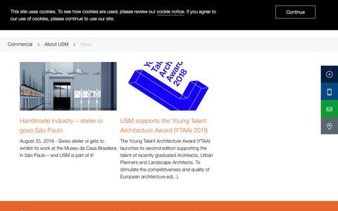 Screenshot of Press Page usm.com - News | About USM | Commercial | USM - captured Nov. 8, 2018