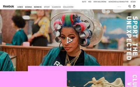 Screenshot of Home Page reebok.it - Reebok Online Store | Reebok® Italia - captured July 17, 2019