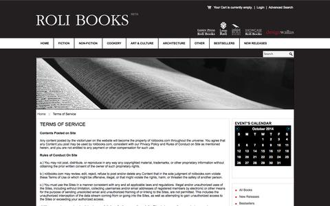Screenshot of Terms Page rolibooks.com - Terms of Service - captured Oct. 9, 2014