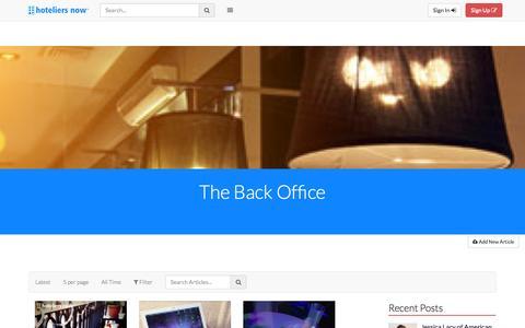 Screenshot of Blog hoteliersnow.com - Articles » Hoteliers Now - captured Sept. 30, 2014