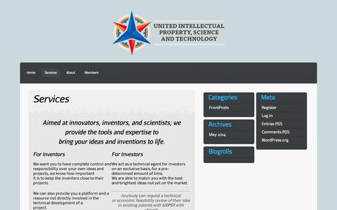 Screenshot of Services Page uipst.com - Services | UIPST - captured Oct. 26, 2014