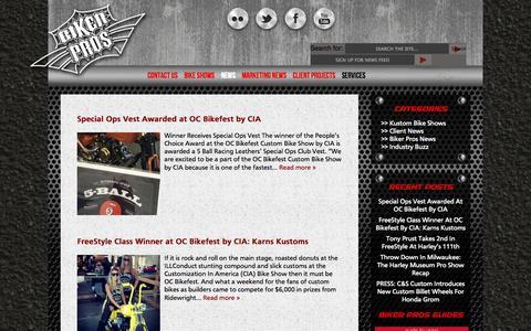 Screenshot of Press Page bikerpros.com - News - Biker Pros - captured Sept. 30, 2014