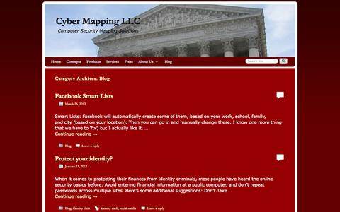 Screenshot of Blog cybermapping.net - Blog | Cyber Mapping LLC - captured Oct. 3, 2014