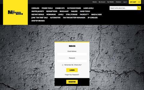 Screenshot of Login Page melbournetools.com.au - Customer Login - captured July 5, 2018