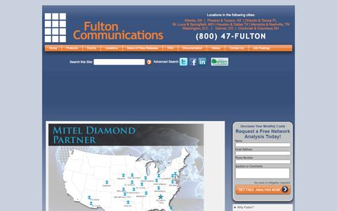 Screenshot of Locations Page fultoncommunications.com - Fulton Locations - captured Sept. 30, 2014
