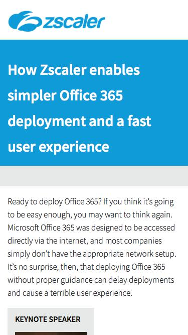 Office 365 Deployment And Experience   Zscaler