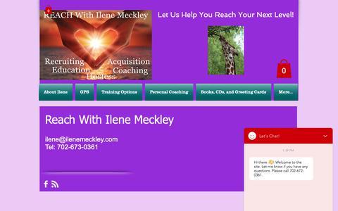 Screenshot of Contact Page ilenemeckley.com - reach | Contact Us - captured Nov. 6, 2018