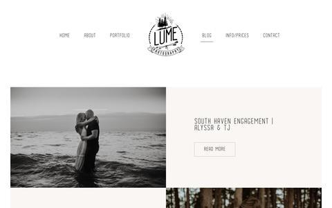 Screenshot of Blog lumephotography.com - Blog - Lume Photography - captured July 21, 2019