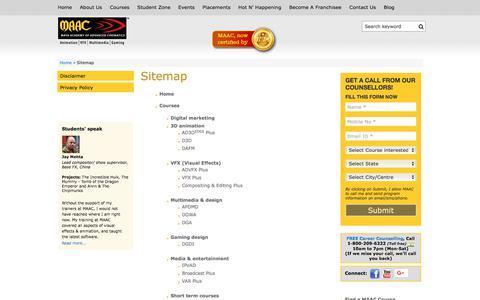 Screenshot of Site Map Page maacindia.com - Sitemap | maacindia.com - captured Sept. 26, 2017