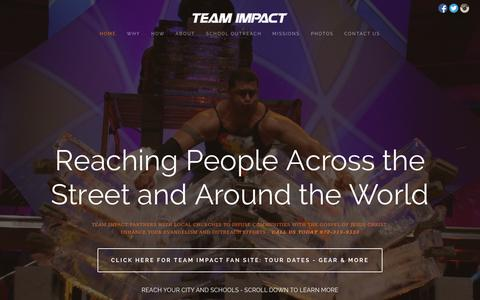 Screenshot of About Page team-impact.com - Team Impact - captured Oct. 26, 2014