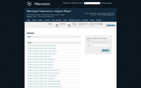Screenshot of Hours Page sheratonvancouverairport.com - Sheraton Vancouver Airport Hotel | Official Website | Best Rates, Guaranteed. - captured Feb. 14, 2016