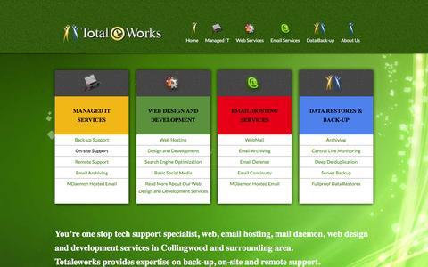 Screenshot of Home Page totaleworks.net - Totaleworks: Problem Solved - captured Feb. 24, 2016