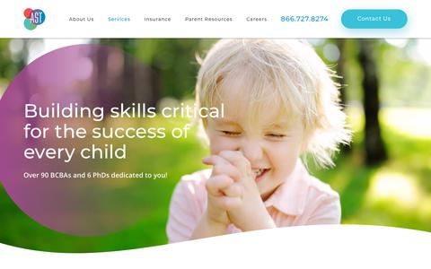 Screenshot of Services Page autismtherapies.com - Our ABA Therapy Services - Autism Spectrum Therapies - captured Oct. 4, 2018