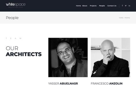 Screenshot of Team Page whitespace.ae - People – Whitespace - captured Oct. 20, 2018
