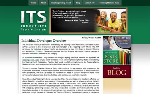 Screenshot of Developers Page teachingfamilyservices.com - Teaching Family Services   Developers - captured Oct. 6, 2014