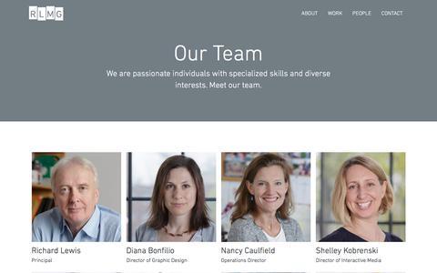 Screenshot of Team Page rlmg.com - Our Team | Richard Lewis Media Group - captured Oct. 22, 2017