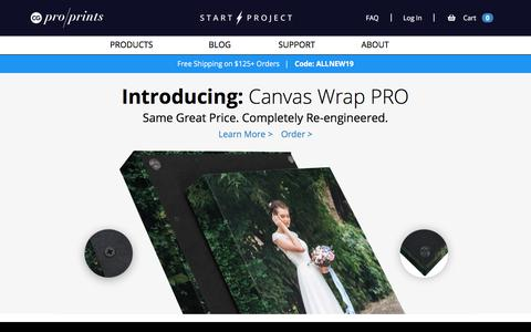 Screenshot of Home Page cgproprints.com - Photo Canvas and Wall Art | | Canvas Art from CG Pro Prints - captured Oct. 2, 2019