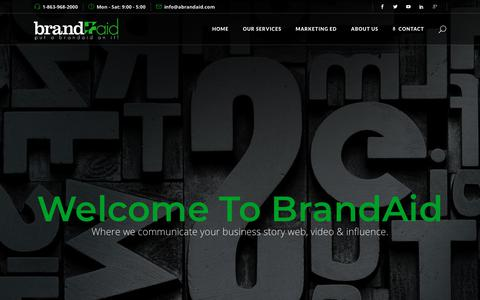 Screenshot of Home Page abrandaid.com - Home - Expert Web Design Lakeland & Winter Haven Fl - Branding - Seo - captured Nov. 13, 2018