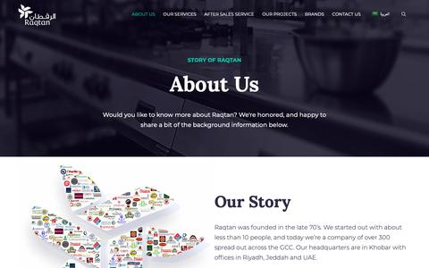 Screenshot of About Page raqtan.com - About Us - Raqtan - captured Dec. 26, 2018