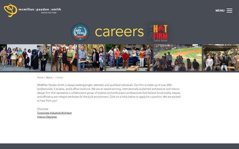 Screenshot of Jobs Page mcmillanpazdansmith.com - McMillan Pazdan Smith Careers | McMillan Pazdan Smith - captured Nov. 17, 2018