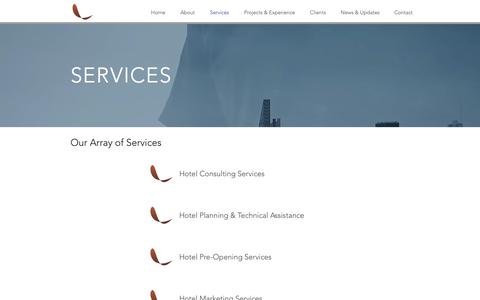Screenshot of Services Page lumirahotels.com - Hospitality Management Consulting Service Malaysia - Lumira Hotels - captured Sept. 29, 2018