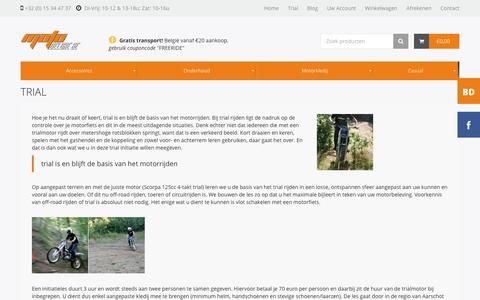 Screenshot of Trial Page motodeluxe.be - Motodeluxe  | Trial - captured Jan. 12, 2016