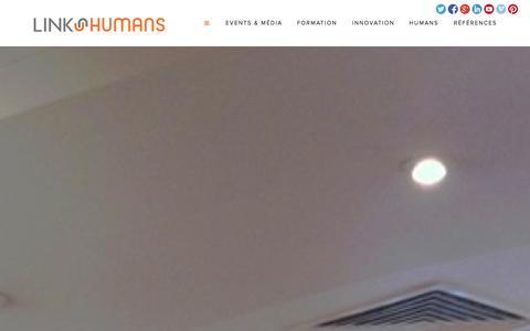 Screenshot of Home Page linkhumans.fr - Link Humans - captured Oct. 8, 2014