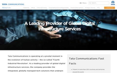 Screenshot of About Page tatacommunications.com - (2) New Messages! - captured June 19, 2019