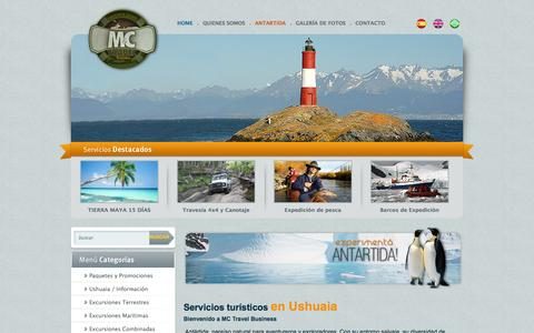 Screenshot of Home Page mctravelbusiness.com - M&C Travel Business Agencia de Viajes y Turismo dedicado al servicio para Cruceros de Lujo y Científicos. - captured Sept. 30, 2014