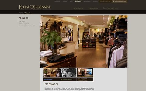 Screenshot of About Page johngoodwin-online.com - About Us - captured Oct. 6, 2014