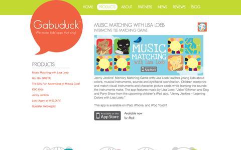 Screenshot of Products Page gabuduck.com - Gabuduck Products   Gabuduck - captured Sept. 16, 2014