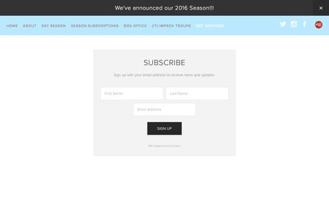 Screenshot of Signup Page savannahstagecompany.com - Sign-up Ń ssc - captured Dec. 22, 2015