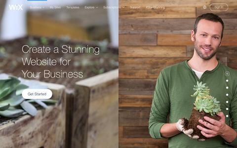 Screenshot of Services Page wix.com - Business Website Builder | Create Small business website | Wix.com - captured Feb. 11, 2016