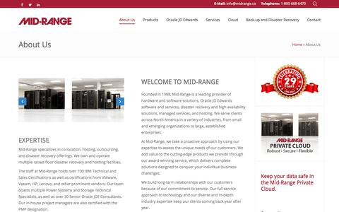 Screenshot of About Page midrange.ca - About Us - Mid-Ranged Managed IT Services - captured Oct. 18, 2017