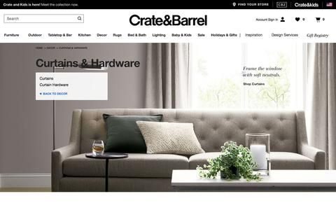 Curtains, Window Treatments and Hardware | Crate and Barrel